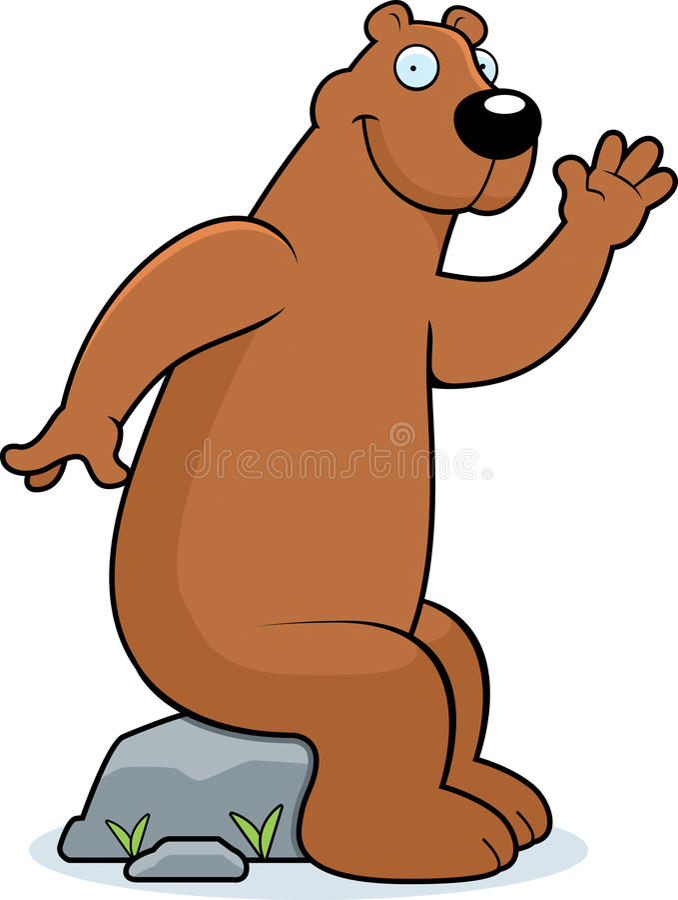 niedźwiadkowy obsiadanie ilustracja wektor