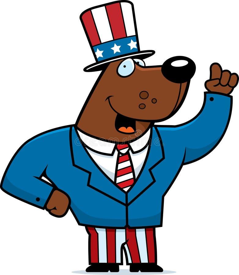 niedźwiadkowy patriotyczny ilustracji