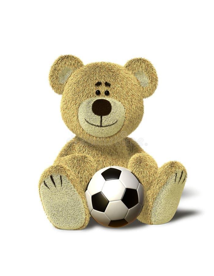 niedźwiadkowy piłki nhi relaksuje piłkę nożną royalty ilustracja