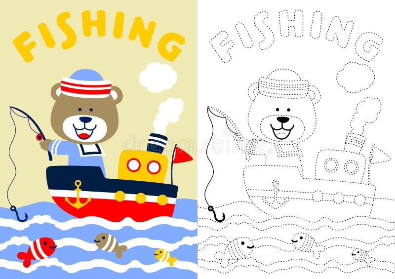 Niedźwiadkowy połów royalty ilustracja