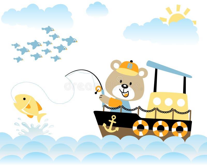 Niedźwiadkowy połów ilustracja wektor