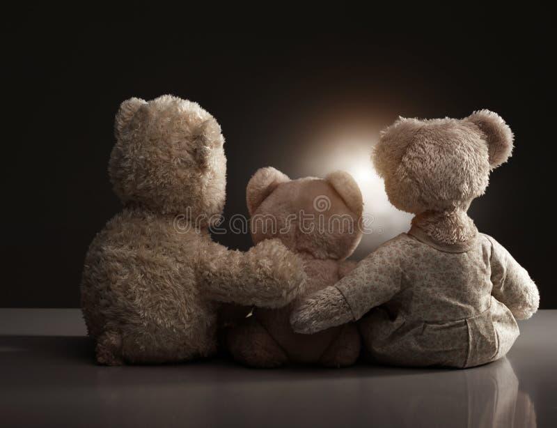 niedźwiadkowy rodzinny miś pluszowy fotografia royalty free