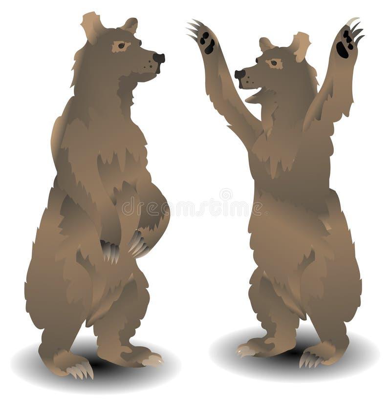 niedźwiadkowy rosjanin ilustracja wektor