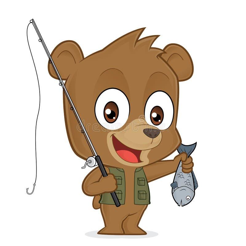 Niedźwiadkowy rybak royalty ilustracja