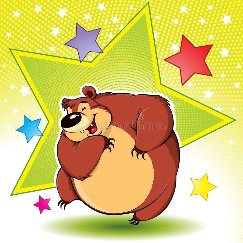 niedźwiadkowy taniec ilustracji
