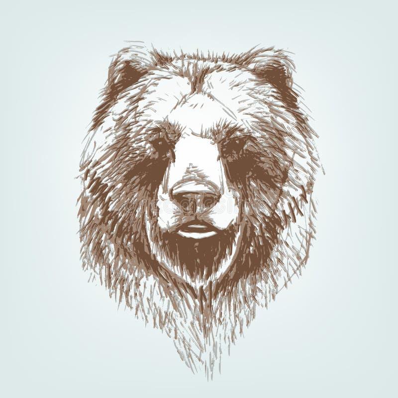 Niedźwiadkowy wektor ilustracji