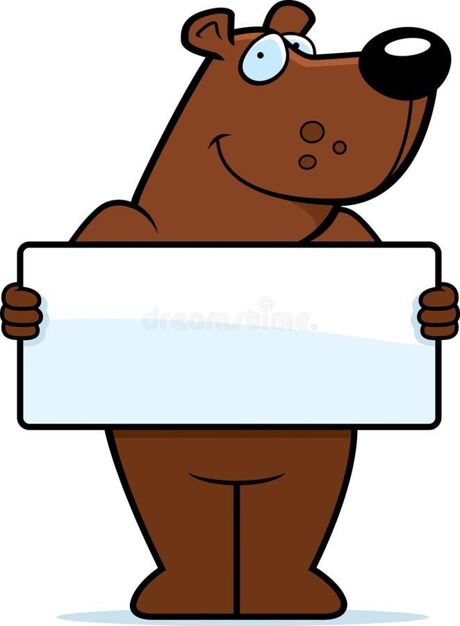 niedźwiadkowy znak royalty ilustracja