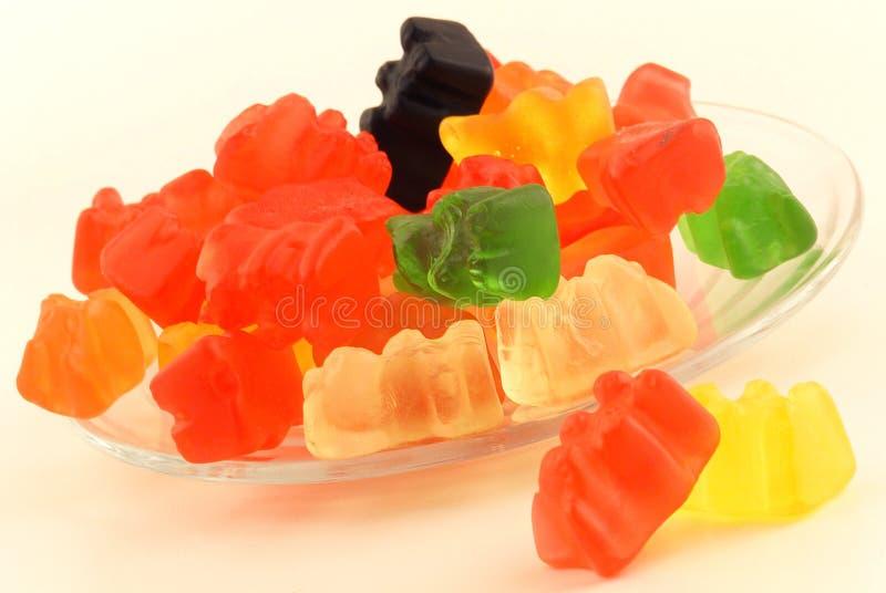 niedźwiadkowych cukierków gumowaty kształtny zdjęcia stock