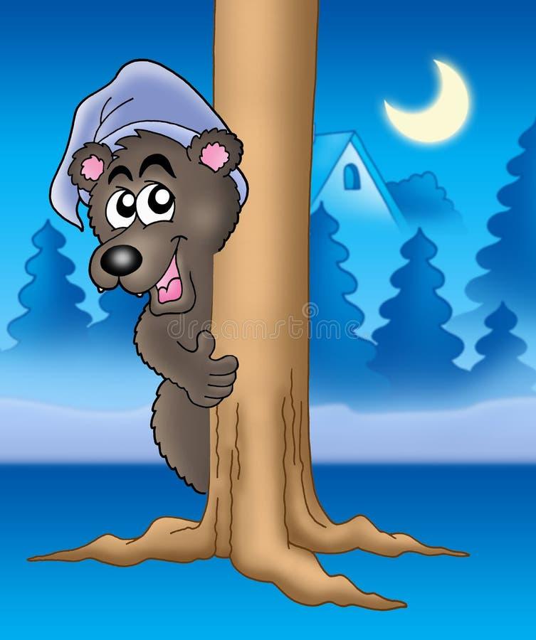niedźwiedź drzewo ilustracja wektor