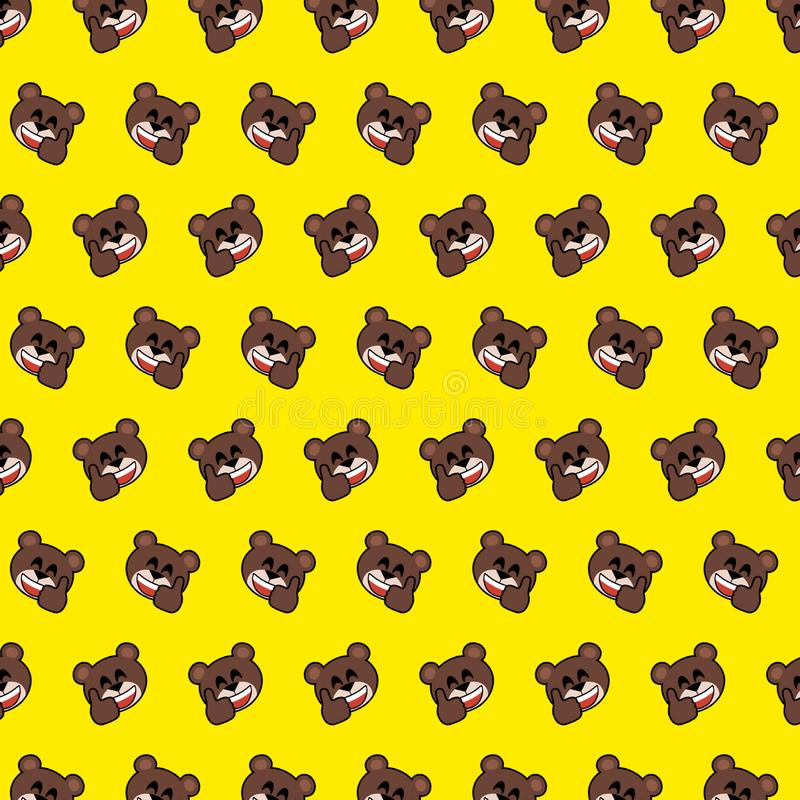 Niedźwiedź - emoji wzór 06 ilustracja wektor