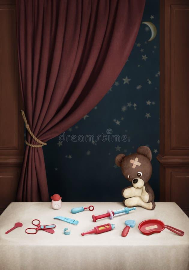 niedźwiedź fabrykuje ustalonego miś pluszowy ilustracja wektor