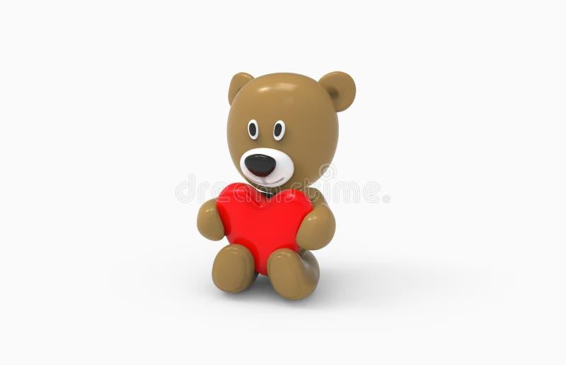 Niedźwiedź i serce zdjęcia royalty free