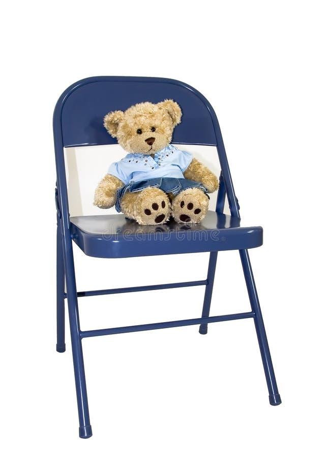 niedźwiedź kąta niebieski krzesło obrazy stock
