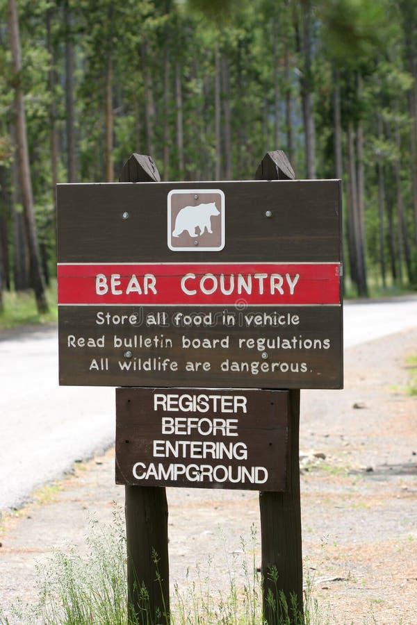 niedźwiedź kraju ostrzeżenie zdjęcia stock