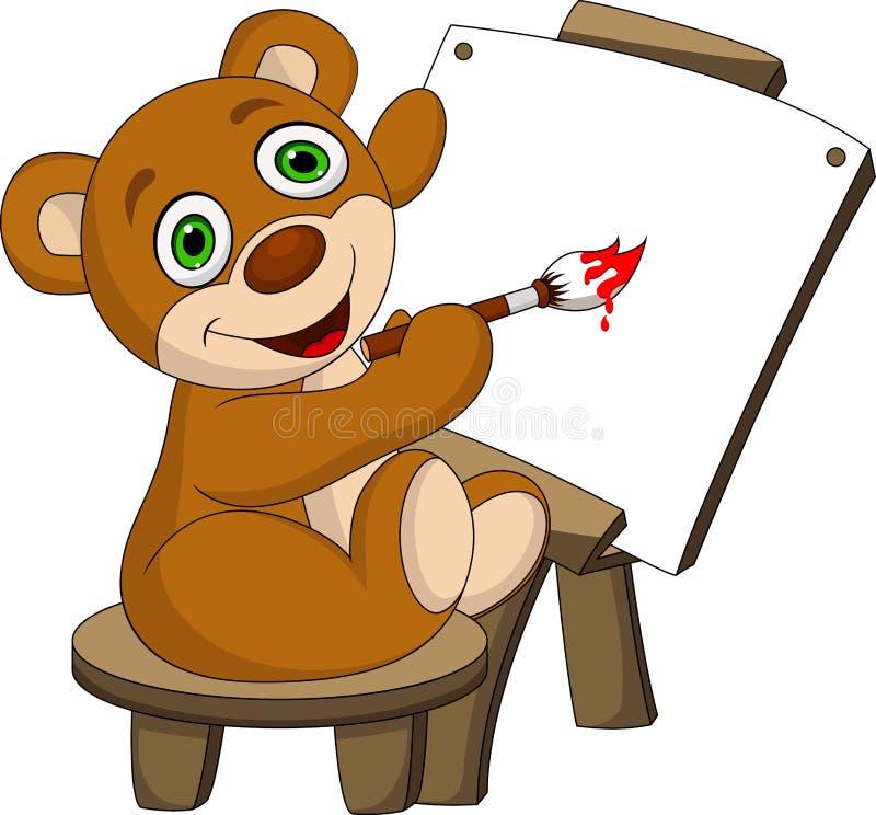 Niedźwiedź malował royalty ilustracja