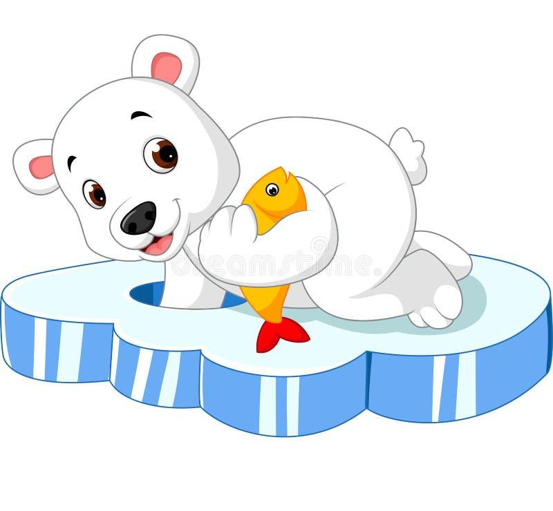 Niedźwiedź polarny łowi ilustracji