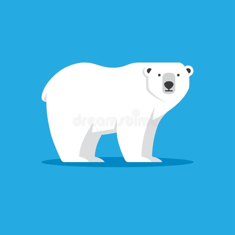 Niedźwiedź polarny ikona w mieszkanie stylu royalty ilustracja