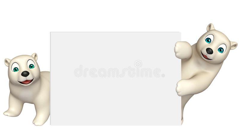 Niedźwiedź polarny kolekcja z białą deską ilustracji