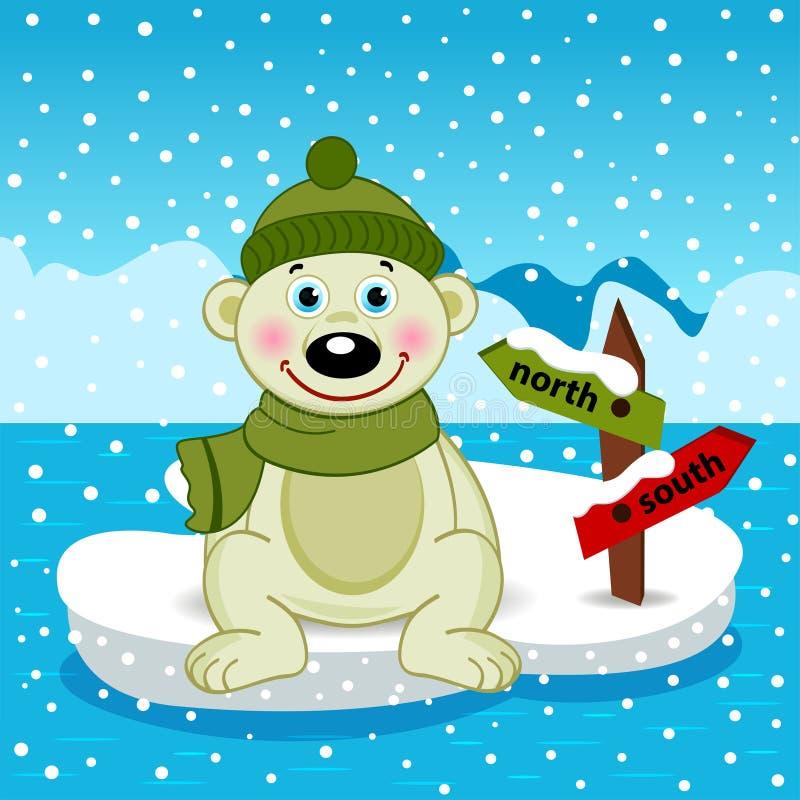Niedźwiedź polarny na floe ilustracji