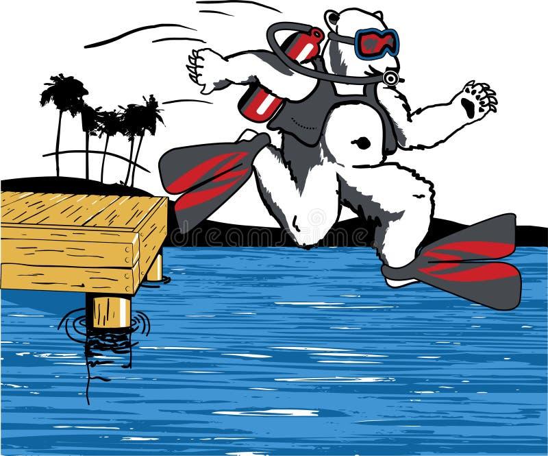 Niedźwiedź Polarny Przygotowywający Pływać fotografia stock
