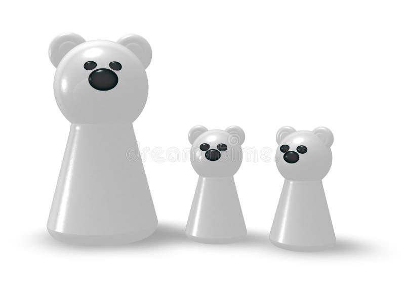 Niedźwiedź polarny rodzina ilustracja wektor