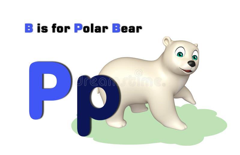 Niedźwiedź polarny z abecadłem royalty ilustracja