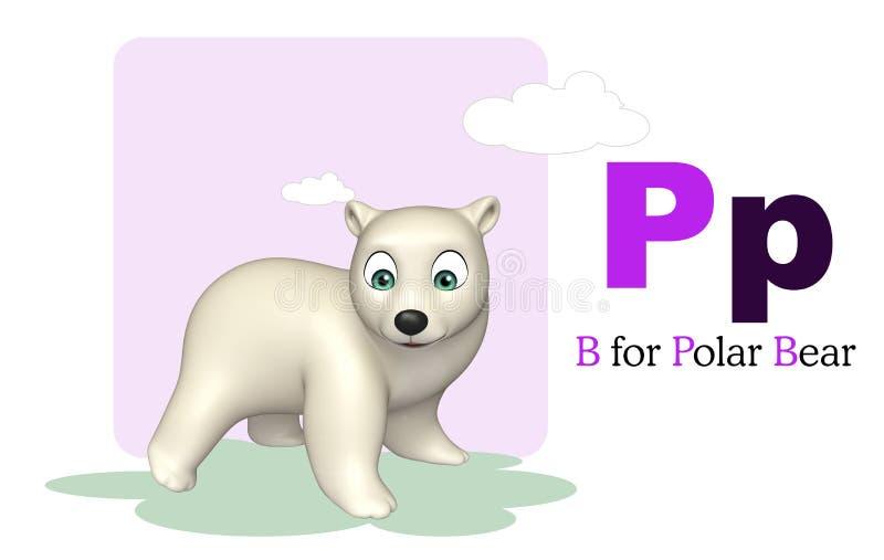 Niedźwiedź polarny z abecadłem ilustracja wektor