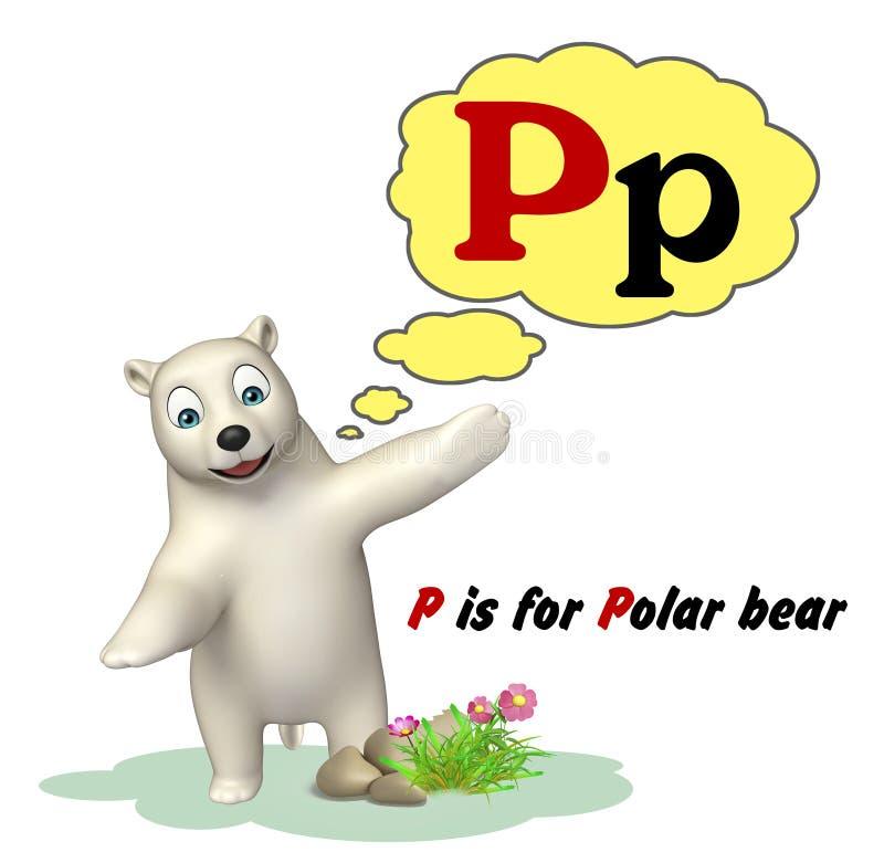 Niedźwiedź polarny z abecadłem ilustracji