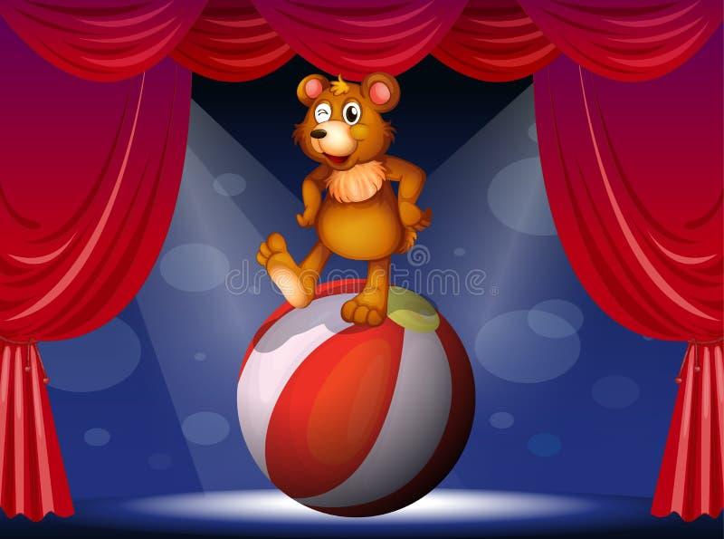 Niedźwiedź przy cyrkiem ilustracji