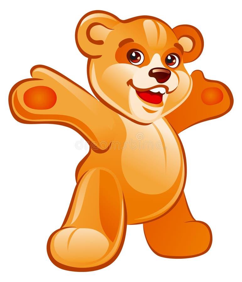 niedźwiedź wręcza miś pluszowy ilustracja wektor