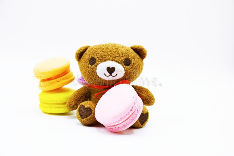 Niedźwiedź z macaron zdjęcia stock