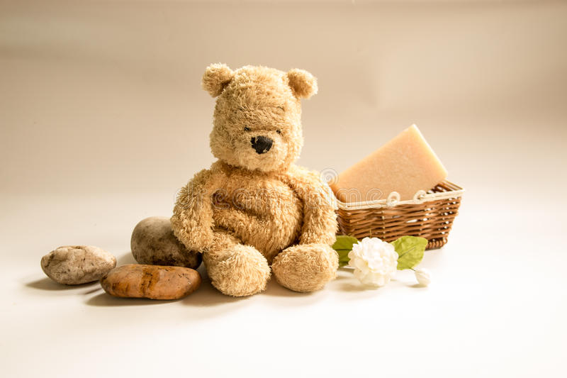 Niedźwiedź z mydłem obrazy stock