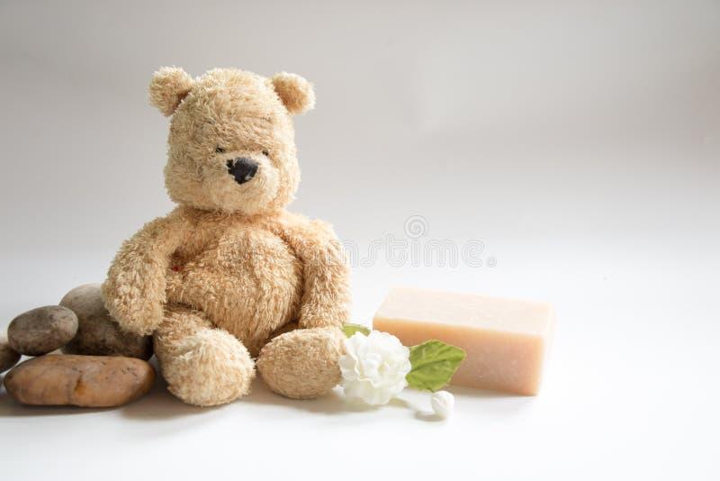 Niedźwiedź z mydłem fotografia stock