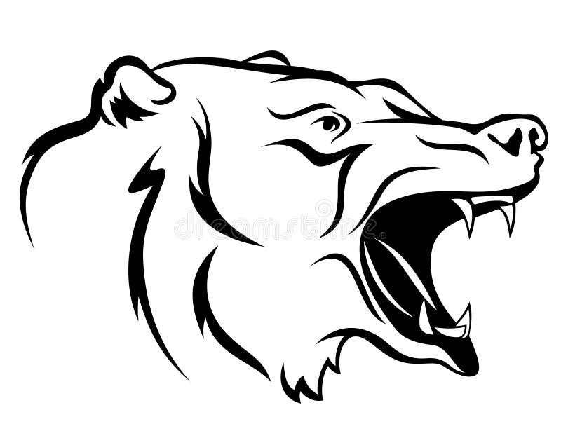 niedźwiedzia gniewny wektor ilustracja wektor