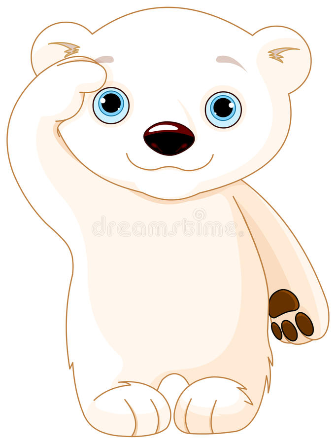 Niedźwiedzia Polarnego salut ilustracja wektor