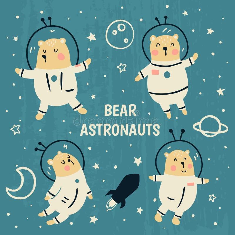 niedźwiedzie ilustracja wektor