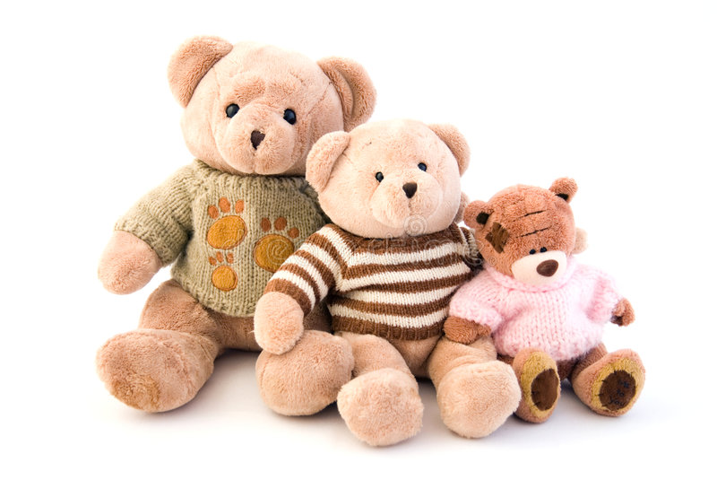 niedźwiedzie target622_1_ zabawkę obraz royalty free