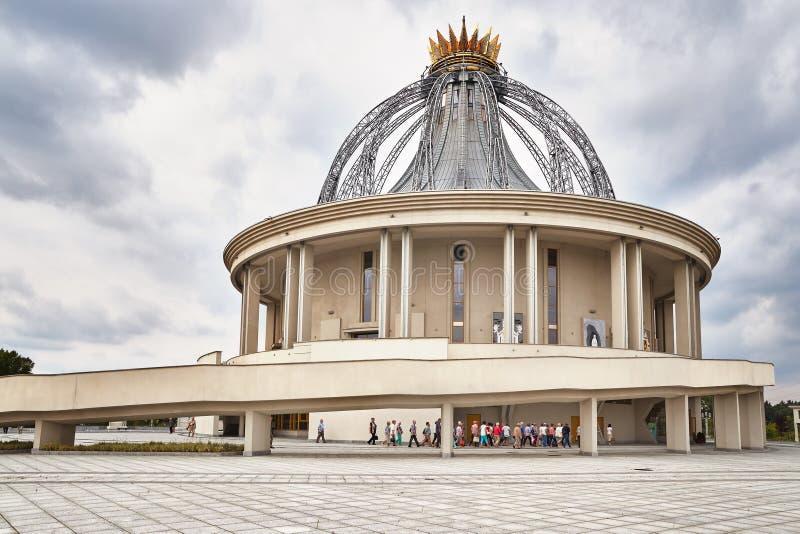 Niedawno budująca świątynia Nasz dama gwiazda Nowy Evangelization John Paul II i St zdjęcia stock