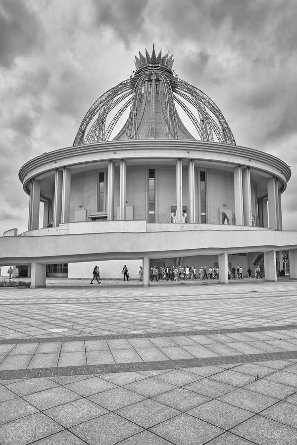 Niedawno budująca świątynia Nasz dama gwiazda Nowy Evangelization John Paul II i St obraz royalty free