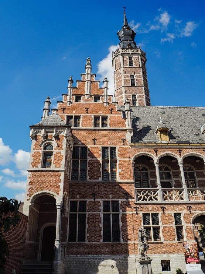 Niedawno odnawiący muzealny Hof Samochód dostawczy Buysleyden, Mechelen, Belgia zdjęcia royalty free
