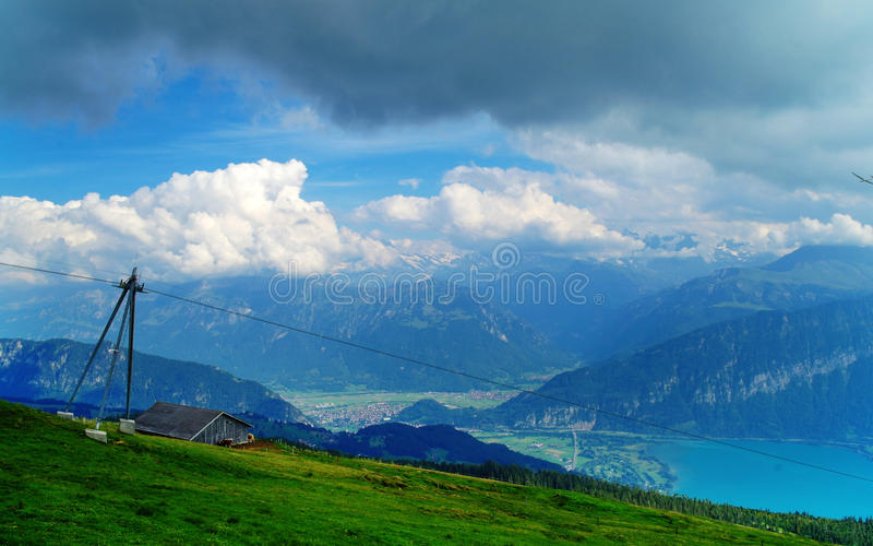 At Niederhorn Mountain royalty free stock photography