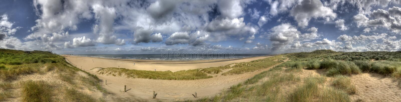 Niederländische Küste stockfotos