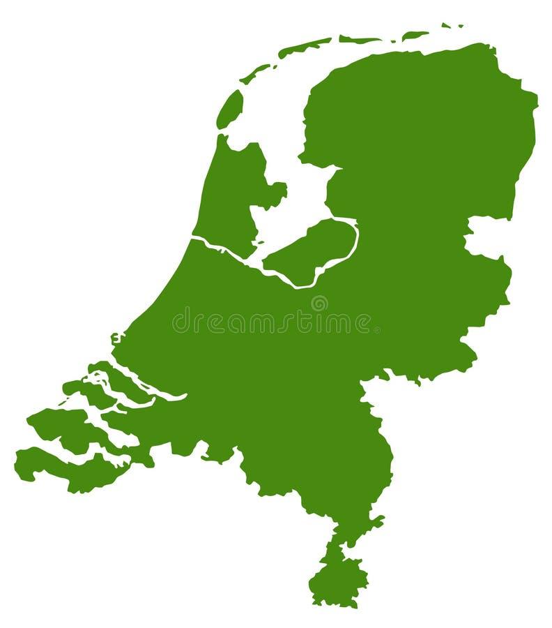 Niederländische Karte - Land in Westeuropa lizenzfreie abbildung