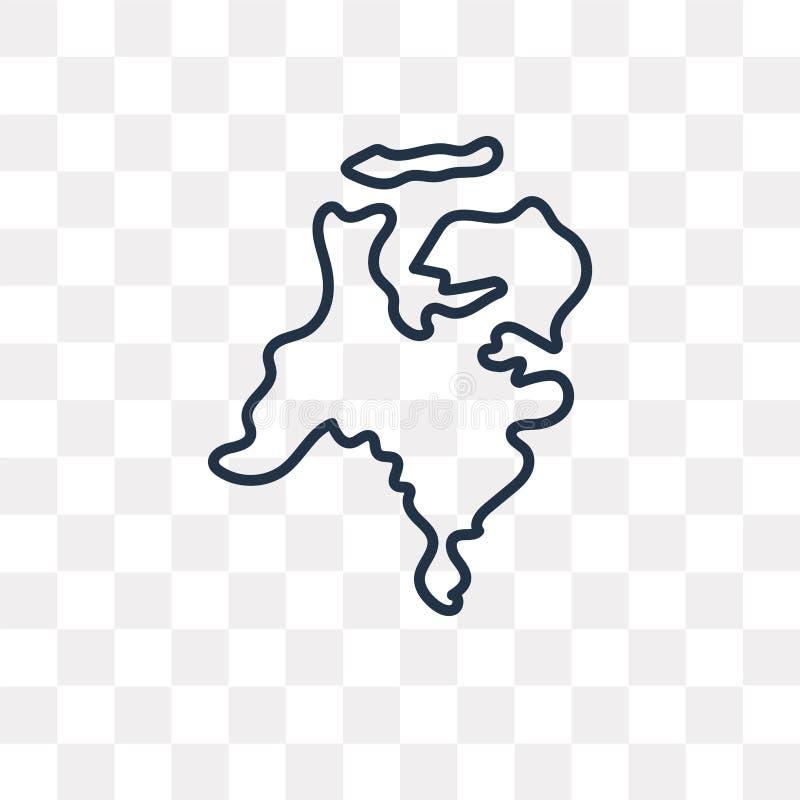 Niederländische Kartenvektorikone lokalisiert auf transparentem Hintergrund, vektor abbildung