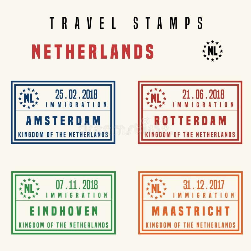 Niederländische Reisestempel vektor abbildung