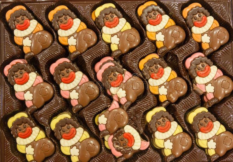 Niederländische schwarze Peter-Schokoladen stockfotos