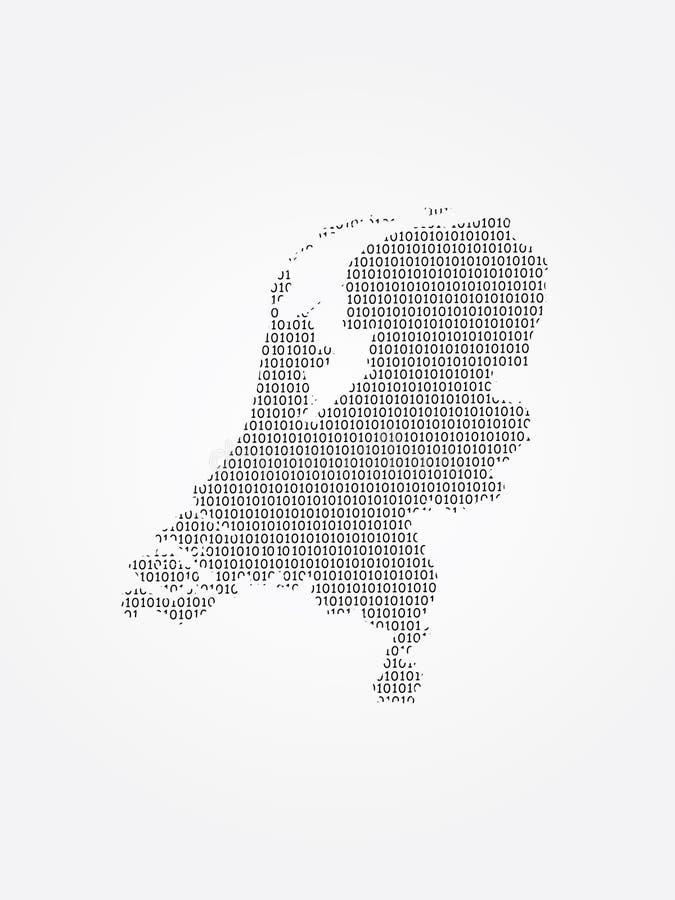 Niederländische Vektorkartenillustration unter Verwendung der Binärstellen oder der Zahlen auf dem hellen Hintergrund, zum des di vektor abbildung