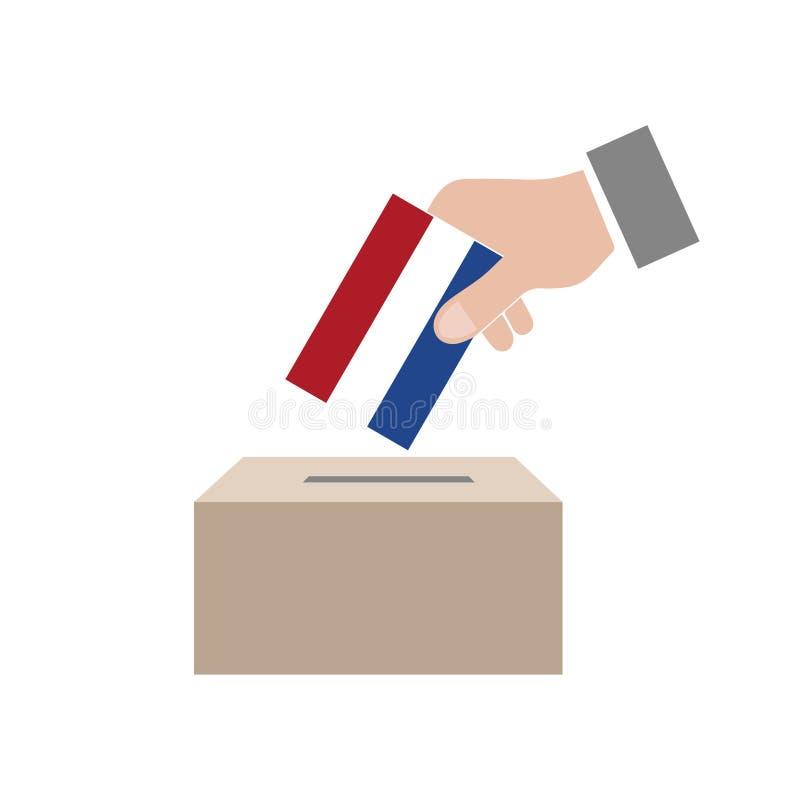 Niederländische WahlWahlurne lizenzfreie abbildung