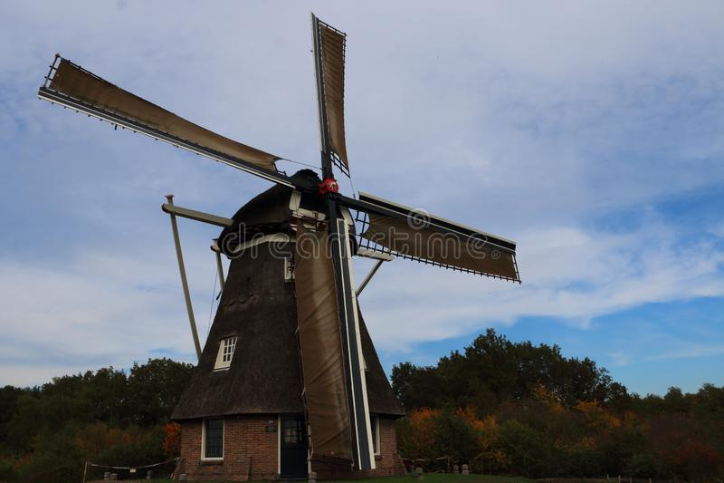 Niederländische Windmühle im Zustand Drenthe lizenzfreies stockbild