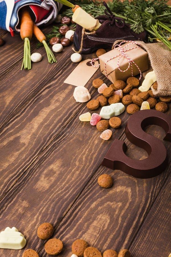 Niederländischer Feiertag Sinterklaas-Hintergrund stockfoto